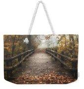 Foggy Lake Park Footbridge Weekender Tote Bag