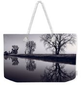 Foggy Morn Bw Weekender Tote Bag by Steve Gadomski
