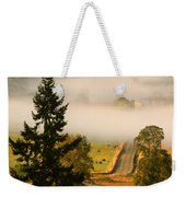 Foggy Morning Drive Weekender Tote Bag
