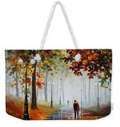 Foggy Morning - Palette Knife Contemporary Landscape Oil Painting On Canvas By Leonid Afremov - Size Weekender Tote Bag