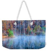 Foggy Morning Reflections Weekender Tote Bag