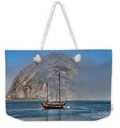 Foggy Morrow Bay Weekender Tote Bag