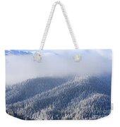 Foggy Peak Weekender Tote Bag