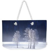 Foggy Sunrise In Yellowstone National Park Weekender Tote Bag