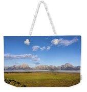 Foggy Sunrise On The Tetons - Grand Teton National Park Wyoming Weekender Tote Bag