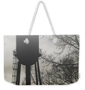 Foggy Tower Silhouette Weekender Tote Bag