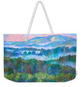Foggy View From Mill Mountain Weekender Tote Bag