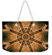Folded 8-pointed Kaleidoscope Image Weekender Tote Bag