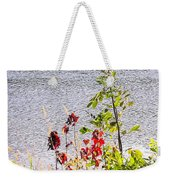 Foliage Along Iowa River Iowa City Ia Weekender Tote Bag