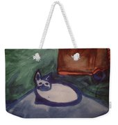 Folk Art Cat Weekender Tote Bag