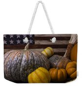 Folk Art Flag And Pumpkins Weekender Tote Bag