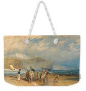 Folkestone Harbour And Coast To Dover Weekender Tote Bag