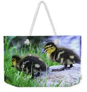 Follow The Leader Ducky Style Weekender Tote Bag