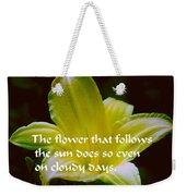 Follow The Sun Weekender Tote Bag
