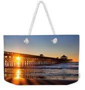 Folly Beach Pier At Sunrise Weekender Tote Bag