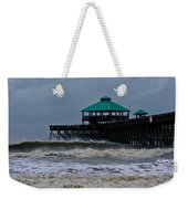 Folly Beach Pier During Sandy Weekender Tote Bag