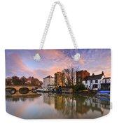 Folly Bridge In Oxford. Weekender Tote Bag