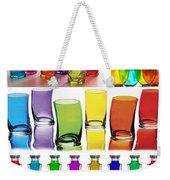 Food Coloring Ensemble Wide-rainbow Theme Weekender Tote Bag