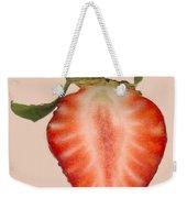 Food - Fruit - Slice Of Strawberry Weekender Tote Bag