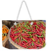 Food Market With Fresh Chili Peppers Weekender Tote Bag