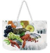 Food On Ice Weekender Tote Bag