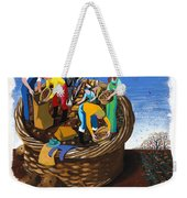 Food Production Lend A Hand With The Potato Harvest Weekender Tote Bag