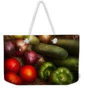 Food - Vegetables - Onions Tomatoes Peppers And Cucumbers Weekender Tote Bag