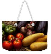 Food - Vegetables - Peppers Tomatoes Squash And Some Turnips Weekender Tote Bag by Mike Savad