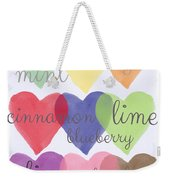 Foodie Love Weekender Tote Bag