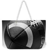 Football Black And White Weekender Tote Bag