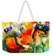 Football IIi Weekender Tote Bag by Lourry Legarde