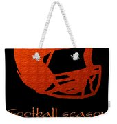 Football Season Should Be Year Round In Orange Weekender Tote Bag by Andee Design