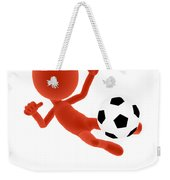 Football Soccer Shooting Jumping Pose Weekender Tote Bag