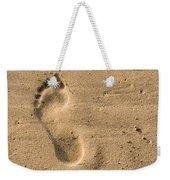 Footprint In The Sand Weekender Tote Bag