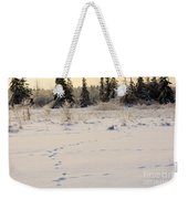 Footprints In Fresh Snow Weekender Tote Bag