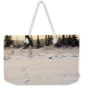 Footprints In Fresh Snow Weekender Tote Bag