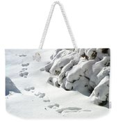 footprints in the Snow Weekender Tote Bag