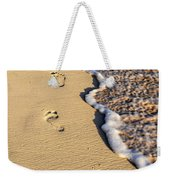 Footprints On Beach Weekender Tote Bag