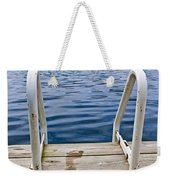 Footprints On Dock At Summer Lake Weekender Tote Bag