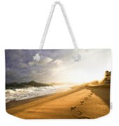Footsteps In The Sand Weekender Tote Bag