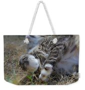 For The Love Of Stretching Weekender Tote Bag by Marilyn Wilson