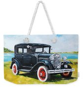 Ford A Tudor Sedan Weekender Tote Bag