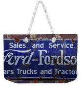 Ford And Fordson Sign Weekender Tote Bag