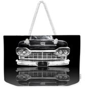 Ford F100 Truck Reflection On Black Weekender Tote Bag