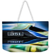 Ford Mustang 351 Engine Emblem -1011c Weekender Tote Bag