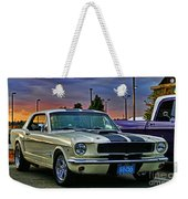 Ford Mustang At Sunset Weekender Tote Bag