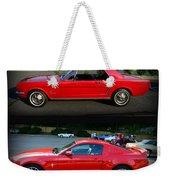 Ford Mustang Old Or New Weekender Tote Bag