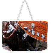 Ford V8 Dashboard Weekender Tote Bag