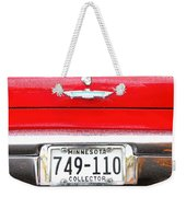 Ford With Minnesota Licence Plate Weekender Tote Bag