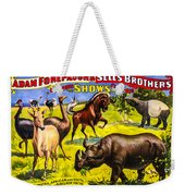 Forepaugh And Sells Wondrous Wild Beasts Weekender Tote Bag